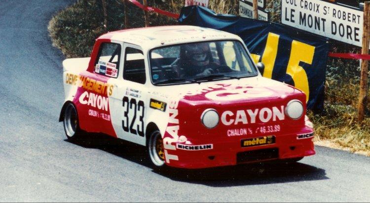 La Simca Rallye II à la course de côte du Mont-Dore