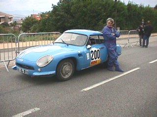 Jean Graveleau sur son DB hbr5 numéro 200 au départ de la 2 ème montée