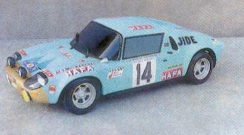 La maquette de la Jidé de Jean Ragnotti au Critérium des Cévennes - « Jean Rolland » en 1972