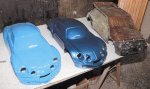 2 maquettes de A110 et le moule de la R5 Turbo