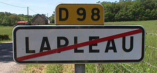 La sortie du village de Lapleau