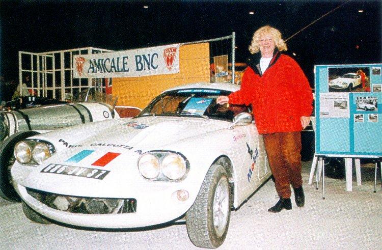Maïté Patoux au 7 ème Salon auto-moto rétro d'Avignon en Mars 1999